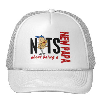 Nuts About Being A New Papa 1 Red Mesh Hats