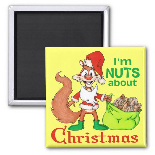 Nuts about Christmas Refrigerator Magnet