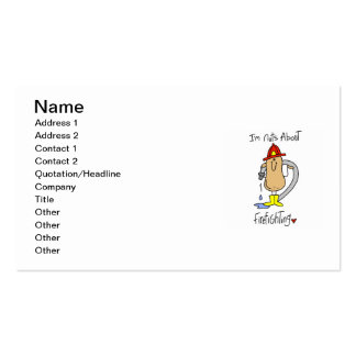 Nuts About Firefghting T-shirts and Gifts Pack Of Standard Business Cards