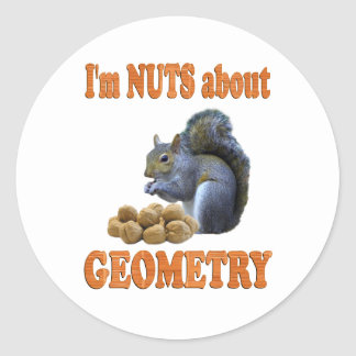 Nuts About Geometry Round Sticker