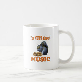 Nuts about Music Basic White Mug