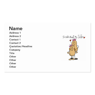 Nuts About My Sister T-shirts and Gifts Pack Of Standard Business Cards