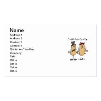 Nuts About My Wife T-shirts and Gifts Business Cards