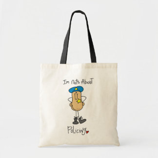 Nuts About Policing T-shirts and Gifts Tote Bags