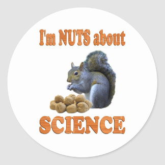 Nuts about Science Classic Round Sticker