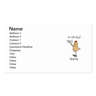 Nuts About Teaching T-shirts and Gifts Business Cards
