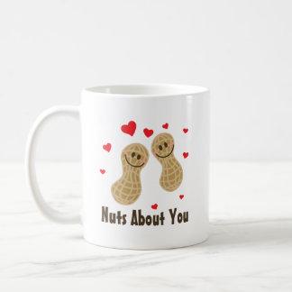 Nuts About You Cute Peanuts Food Pun Humour Coffee Mug