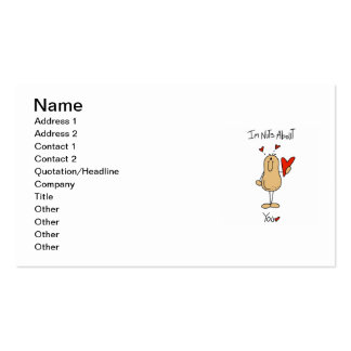 Nuts About You T-shirts and Gifts Business Card