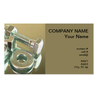 nuts and bolts business card templates