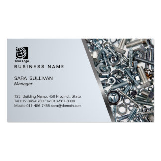 Nuts and Bolts Hardware Supplies Business Card