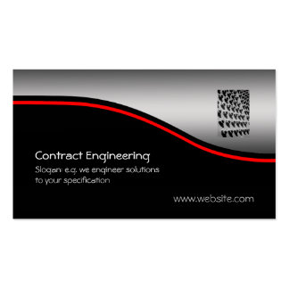 Nuts And Bolts, red swoosh on metallic-look Pack Of Standard Business Cards