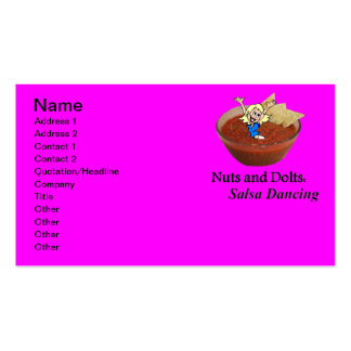Nuts and Dolts: Salsa Dancing Pack Of Standard Business Cards