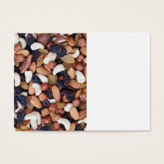 Nuts and raisins business card