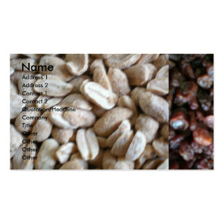 Nuts and Rasins Business Cards