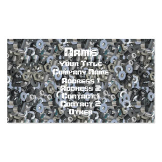 Nuts & Bolts & Screwed Pack Of Standard Business Cards