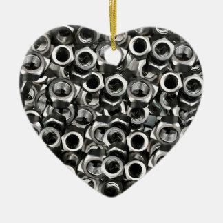 Nuts Ceramic Heart Decoration