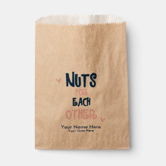 Nuts for Each Other Wedding Favour Bags