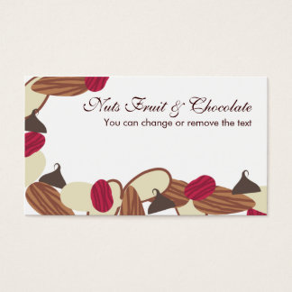nuts fruit chocolate baking bakery candy making... business card