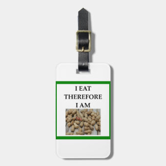 nuts luggage tag