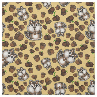Nuts over Chipmunks Fabric