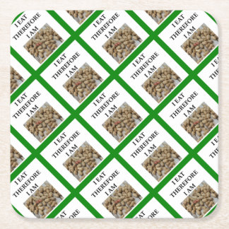 nuts square paper coaster
