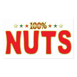 Nuts Star Tag Business Cards