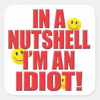 Nutshell Life Square Sticker