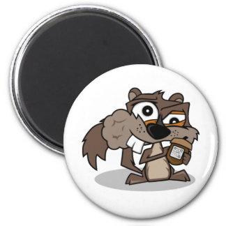 nutty 6 cm round magnet