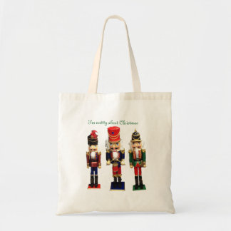 """Nutty about Chrstmas"" Nutcracker Tote Bag"