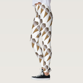 Nutty Buddy Vanilla Ice Cream Cone Foodie Leggings