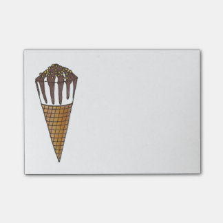 Nutty Buddy Vanilla Ice Cream Cone Foodie Post Its Post-it Notes
