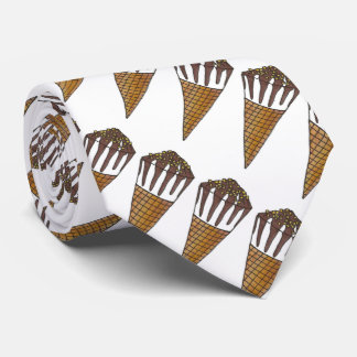 Nutty Buddy Vanilla Ice Cream Cone Tie