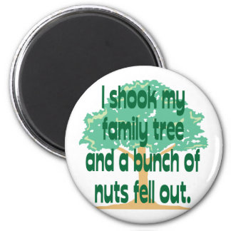 Nutty Family 6 Cm Round Magnet