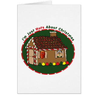 Nutty Gingerbread House Greeting Card