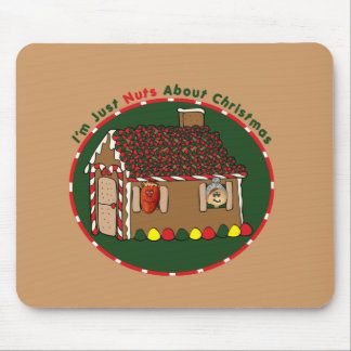 Nutty Gingerbread House Mouse Pad