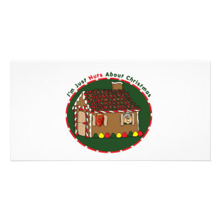 Nutty Gingerbread House Personalized Photo Card