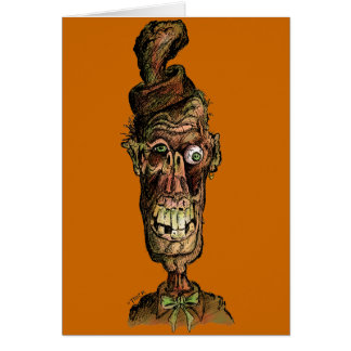 Nutty Hat Zombie Greeting Card