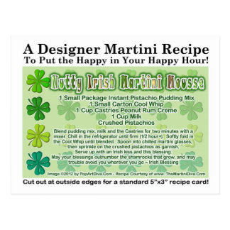 Nutty Irish Martini Mousse Recipe Postcard