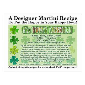 Nutty Irishman St. Patrick's Day Martini Card Postcard