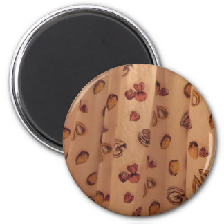 Nutty Material 6 Cm Round Magnet