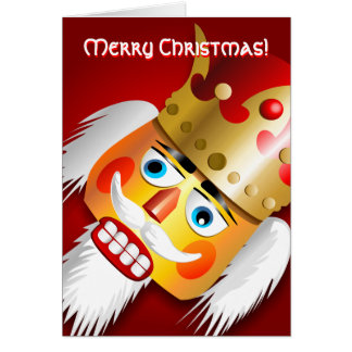 Nutty Nutcracker King Greeting Card