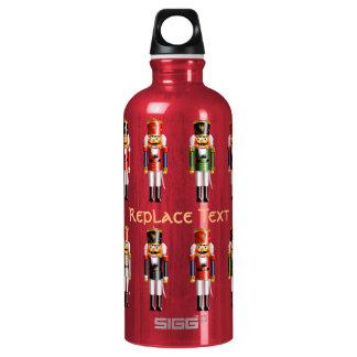 Nutty Nutcracker Toy Soldiers Cartoon Water Bottle