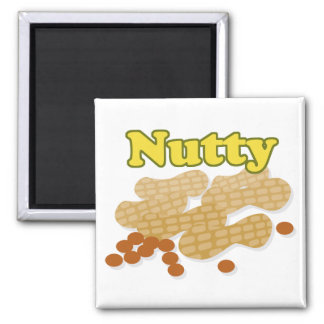Nutty peanuts square magnet