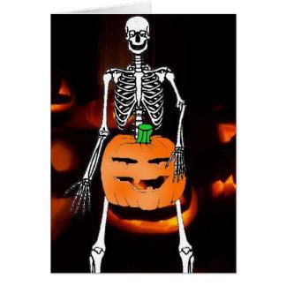 Nutty Skeleton Card
