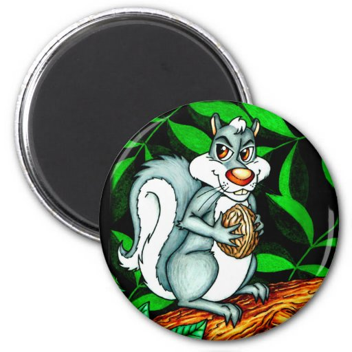 Nutty Squirrel Refrigerator Magnets
