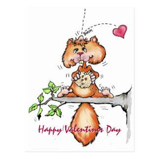 Nutty Valentine Postcard
