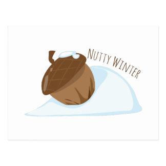 Nutty Winter Postcard