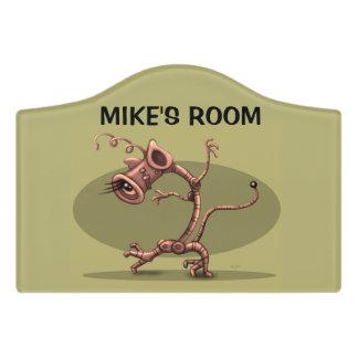 NUX ALIEN DOOR SIGN Crest Small Room Sign