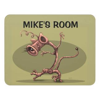 NUX ALIEN DOOR SIGN Modern Room Sign