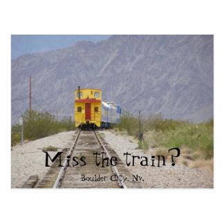 nv train 007, Miss the train?, Boulder City, Nv. Postcard